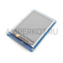 """TFT дисплей с резистивным тачскрином 3.2"""" 320*200 для Arduino c SDcard"""