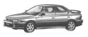 Subaru Impreza HARD TOP SEDAN SRX (4WD 5MT) 1998 г.