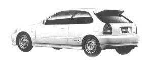 Honda Civic 3DOOR TYPE R (MOTOR SPORTS-BASED CAR) 1998 г.