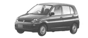 Mitsubishi Minica 5DOOR Pf 1998 г.