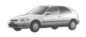 Honda Civic 3DOOR Ri 1998 г.