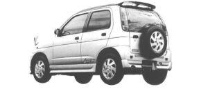Daihatsu Terios KID AERO DOWN 1998 г.