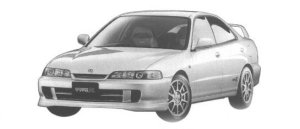Honda Integra 4DOOR HARD TOP TYPE R 1998 г.