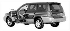 Subaru Forester Trans Care Wing Seat Lift Type 2003 г.