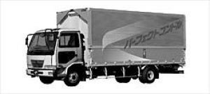 Nissan Diesel Condor Z Air-suspension Wing Van 2003 г.