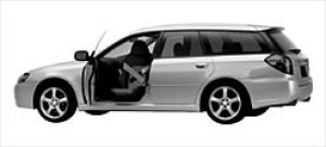Subaru Legacy Touring Wagon Trans Care Wing Seat 2003 г.