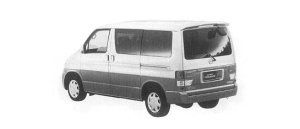 Mazda Bongo Friendee RF-V 2WD 2500 V6, NORMAL ROOF CAR 2000 г.