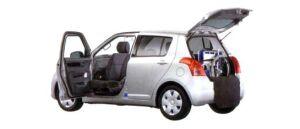 Suzuki Swift with rotating & sliding front passenger seat Car 2007 г.