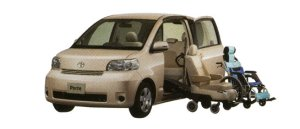 Toyota Porte Welcab, Side Access Car (Detachable Seat + Wheelchair Specification) 2008 г.