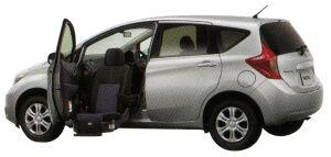 Nissan Note Enchante Passenger`s Slide-up Seat X DIG-S (2WD) 2014 г.