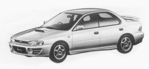 Subaru Impreza 4WD HARD TOP SEDAN 2.0L WRX 1993 г.