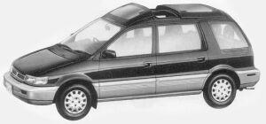 Mitsubishi Chariot SUPER MX CRISTAL LIGHT ROOF 1993 г.