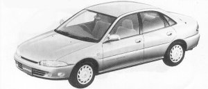 Mitsubishi Mirage 6 4DOOR VIE 1992 г.