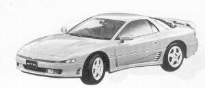 Mitsubishi Gto TWIN TURBO 1992 г.