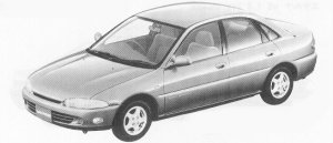 Mitsubishi Mirage 4DOOR VIE 1992 г.