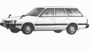 Subaru Leone ESTETO VAN 1.6L LC 1992 г.