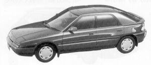 Mazda Familia ASTINA 1500 DOHC 16VALVE 1992 г.