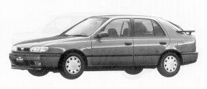 Nissan Pulsar 5DOOR SEDAN 1500X1 1992 г.