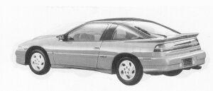 Mitsubishi Eclipse 2000 DOHC TURBO GSR-4 1992 г.