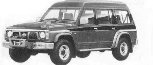 Nissan Safari WAGON EXTRA HIGH ROOF 4200 KING ROAD 1992 г.