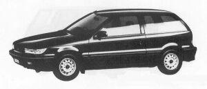 Mitsubishi Mirage 3DOOR 1500 4WD FABIO 1990 г.