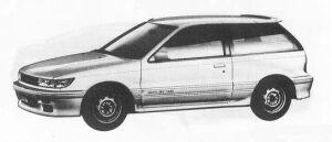 Mitsubishi Mirage 3DOOR 1600 DOHC 4WD CYBORG 1990 г.