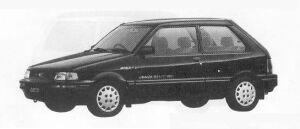 Subaru Justy 4WD 3DOOR MYMEII  ECVT 1990 г.