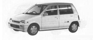 Daihatsu Mira 5DOOR J-TYPE Q 1990 г.