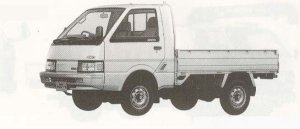 Nissan Vanette Truck 4WD SUPER LOW 2000GL-L 1990 г.