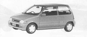 Daihatsu Mira 3DOOR J-TYPE Q 1990 г.