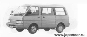 Nissan Vanette VAN 2WD MID ROOF 4DOOR 1500 VX 1990 г.