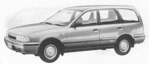 Nissan AD VAN 4DOOR 4WD 1700 DIESEL VX 5F 1990 г.