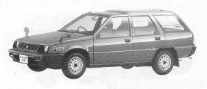Mitsubishi Mirage VAN 4WD 1500CE 1990 г.