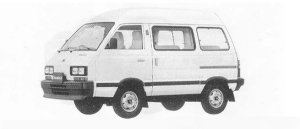 Subaru Domingo 1.0L CF 1990 г.