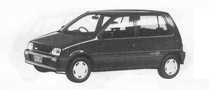 Daihatsu Mira 5DOOR J-4WD TYPE P 1990 г.