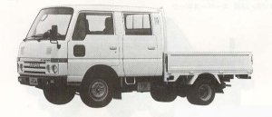 Nissan Atlas 1.0T LONG SUPER LOW DOUBLE CAB 1990 г.