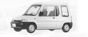 Mitsubishi Minica U 1990 г.
