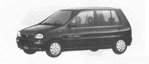 Subaru REX 5DOOR SEDAN CX-i ECVT 1990 г.