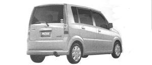 Daihatsu Move CUCTOM L 2WD 2004 г.