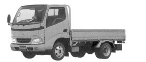 Toyota Dyna CARGO 2WD, Single Cab, Standard Deck,Full Just Low, 1.45ton 2004 г.
