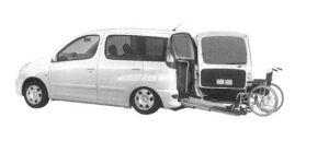 Toyota Funcargo Welcab Wheelchair Specification (Slope-type) 2004 г.