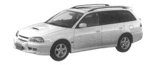 Toyota Caldina GT-T TOURING VERSION CAR 1997 г.