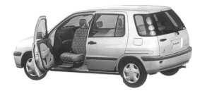 Toyota Raum WELCAB, PASSENGER SEAT LIFT-UP CAR 1997 г.