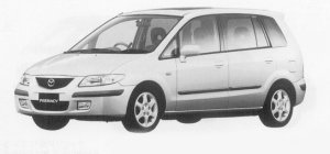 Mazda Premacy SPORTS PACKAGE 7-SEATER FF 1999 г.