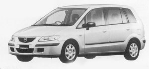 Mazda Premacy STANDARD 5-SEATER FF 1999 г.