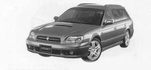 Subaru Legacy TOURING WAGON GT-B 1999 г.