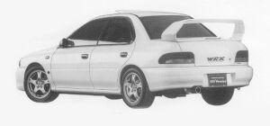 Subaru Impreza PURE SPORTS SEDAN WRX Type RA STi Ver VI 1999 г.