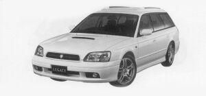 Subaru Legacy TOURING WAGON GT-B E-TUNE 1999 г.