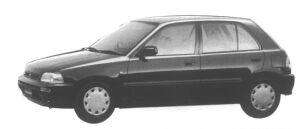 Daihatsu Charade POSE 1500 4WD 5 door 1995 г.