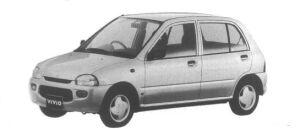 Subaru Vivio 5 door Sedan M300 1995 г.
